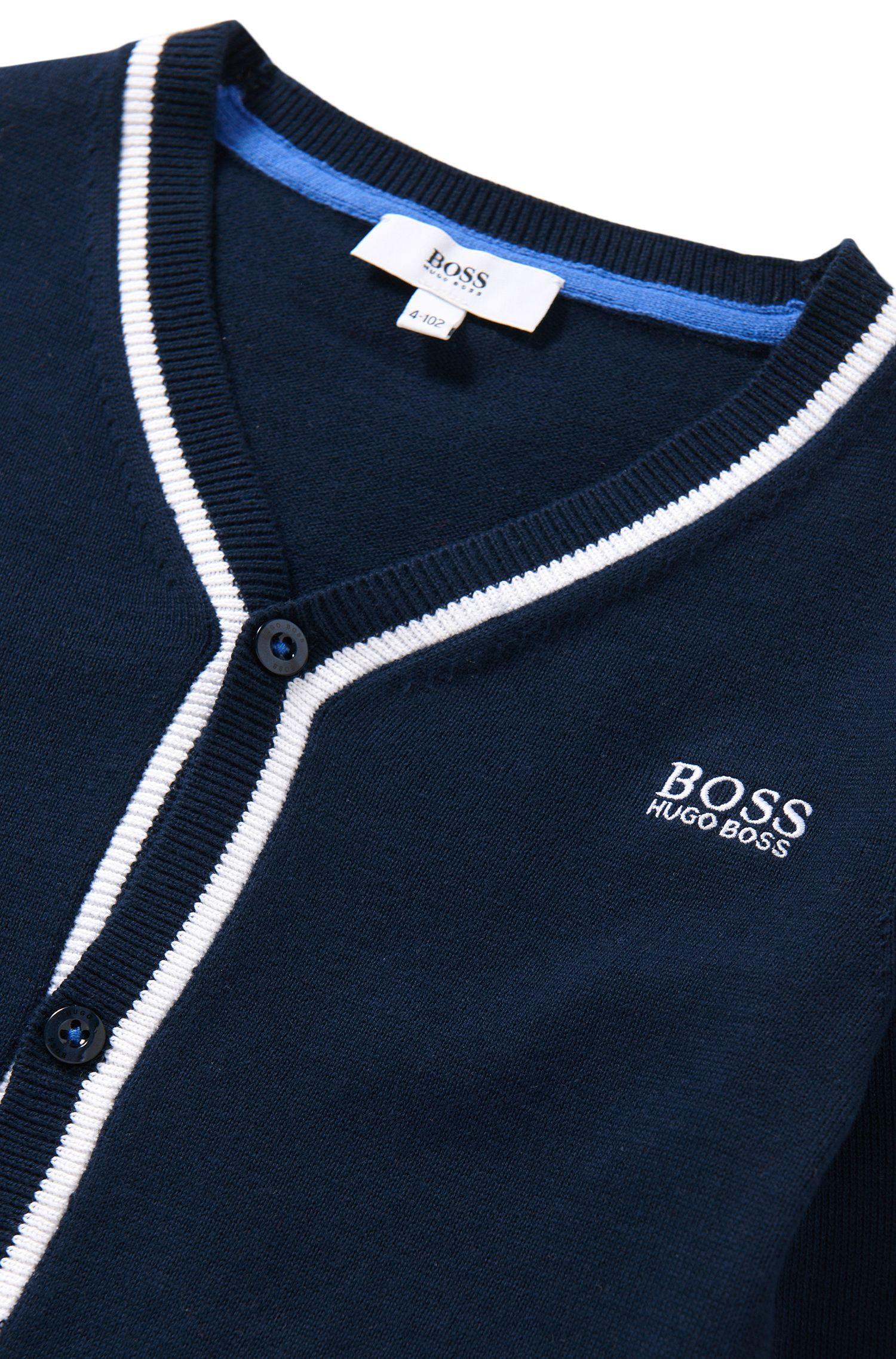 Veste en maille pour enfants à rayures, en pur coton: «J25958»