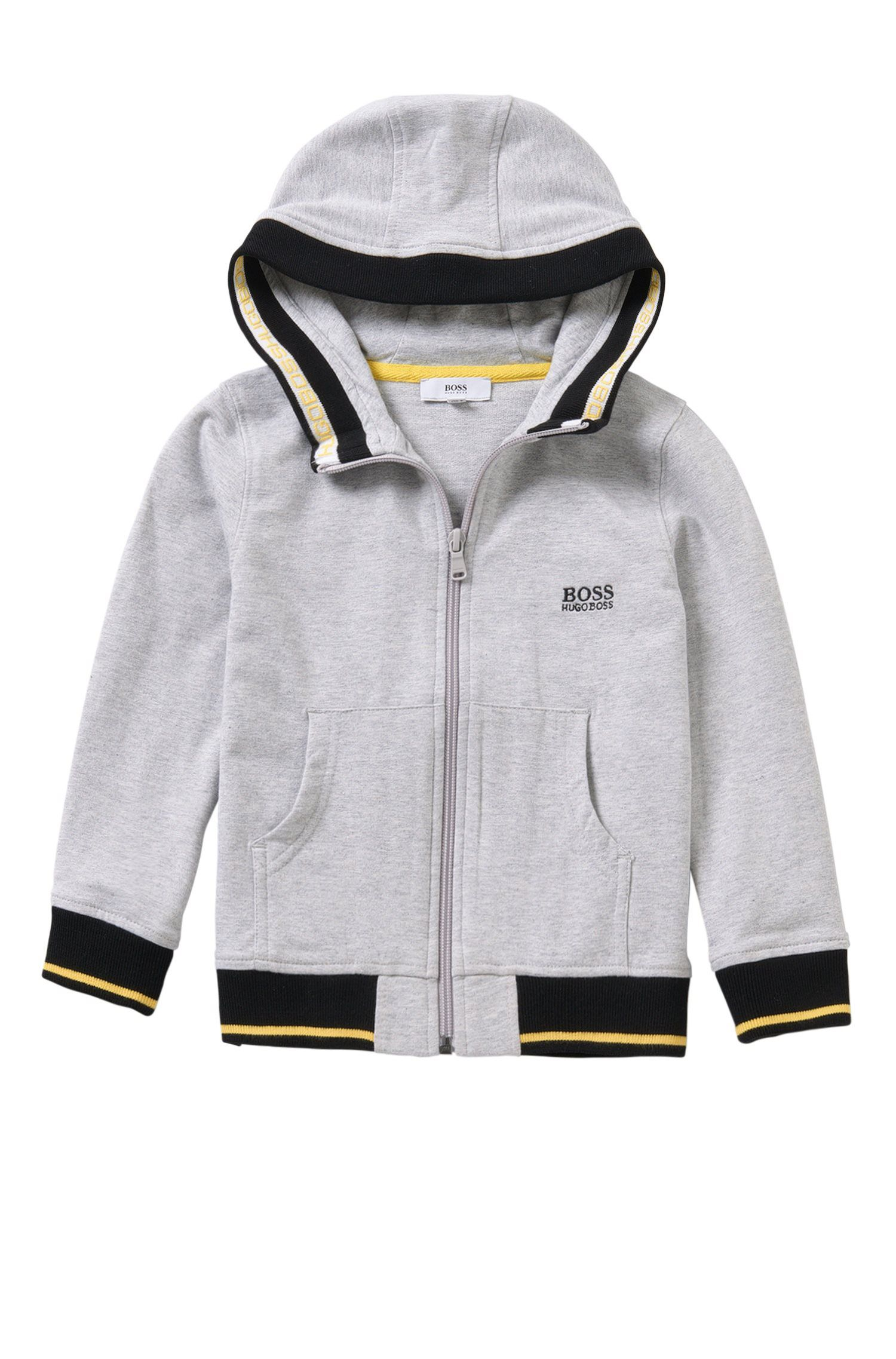 Kids' hooded sweatshirt jacket in stretch cotton: 'J25962'