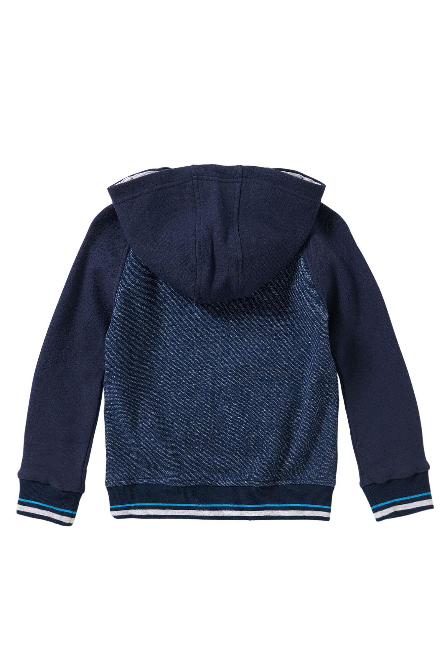 Blouson sweat à capuche pour enfant en coton à poches latérales: «J25963»