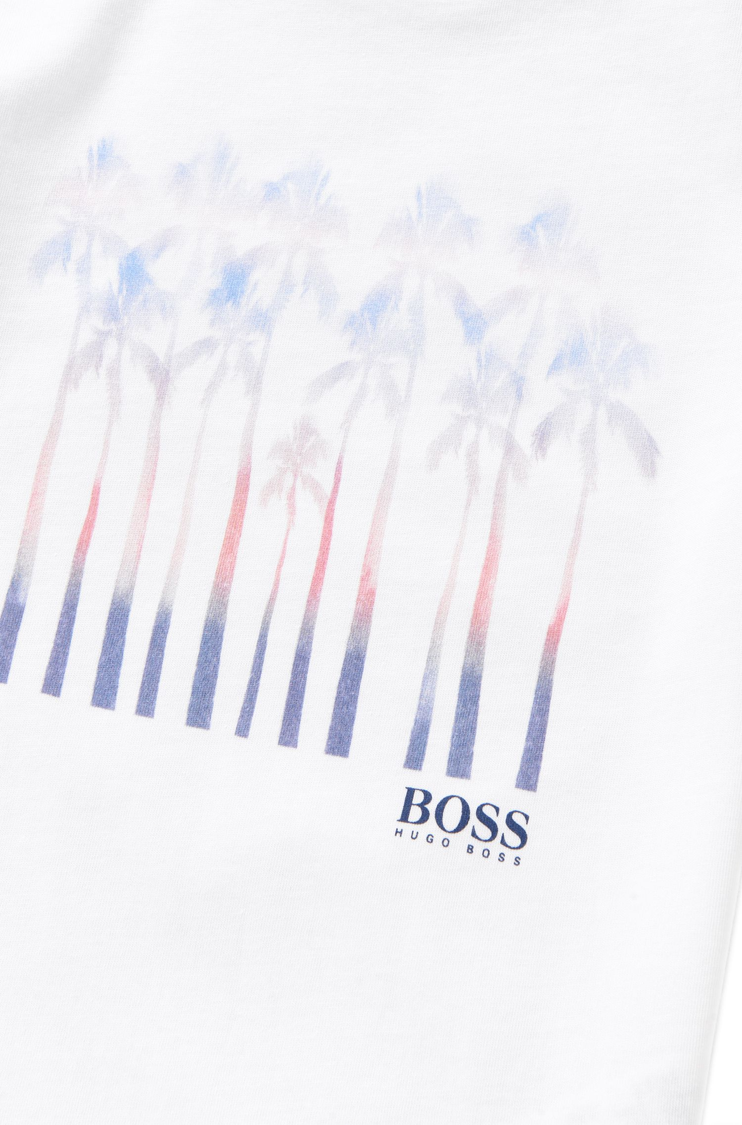 Kids-T-Shirt aus Baumwolle mit Palmen-Print: 'J25970'