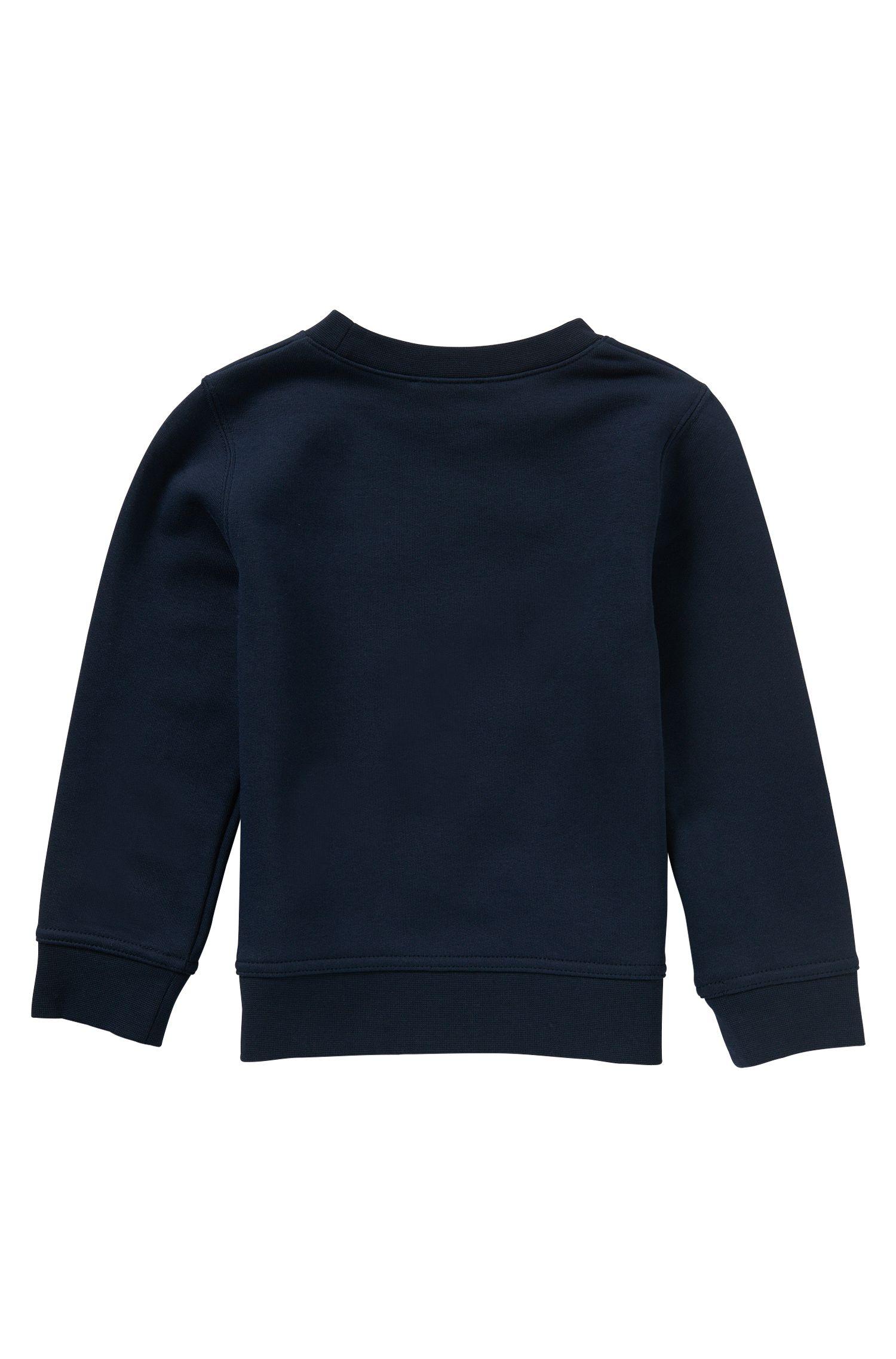 Sweat pour enfant en coton mélangé à logo imprimé gommé: «J25971»