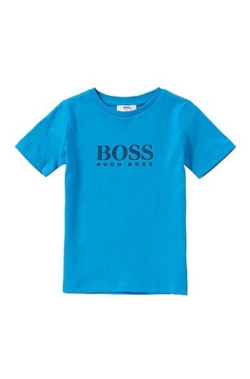 Slim-Fit Kids-T-Shirt aus elastischer Baumwolle: 'J25974', Türkis