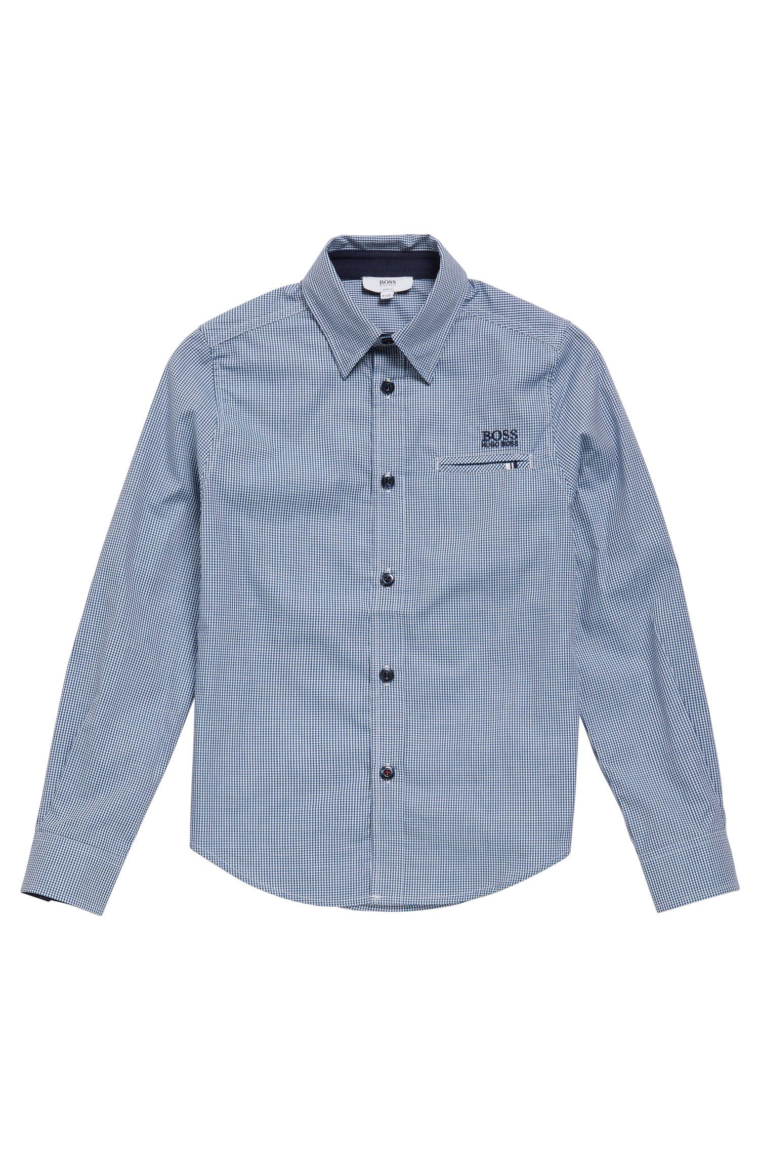 Kids' cotton shirt in a check design: 'J25A20'