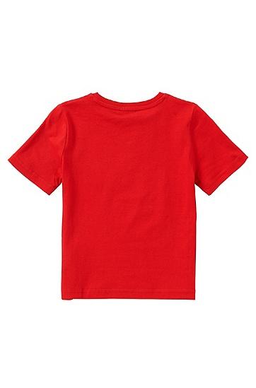 Regular-Fit Kids-T-Shirt aus Baumwolle: 'J25U00', Rot