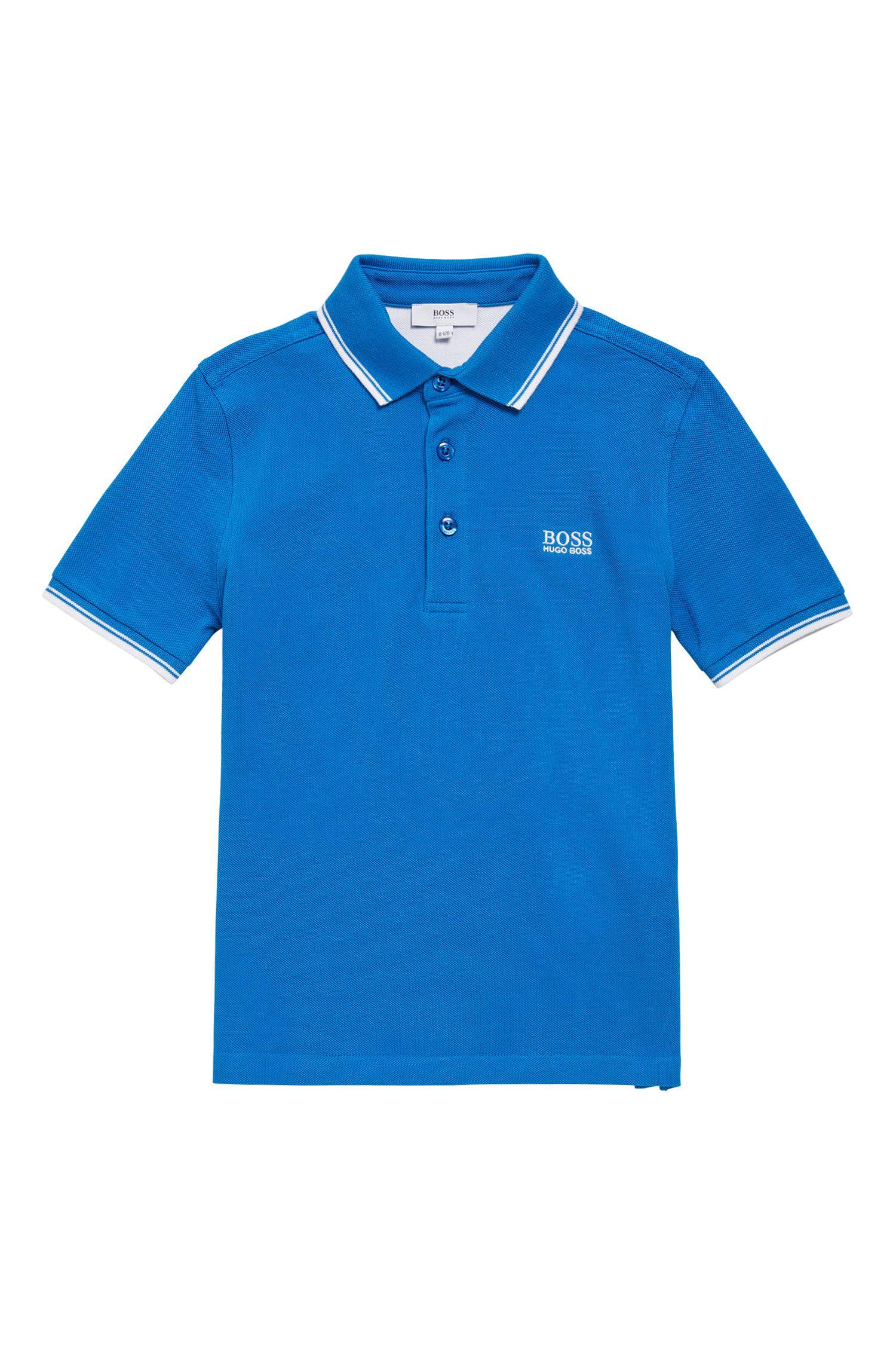 Polo pour garçon en coton, à manches courtes: «J25V10»