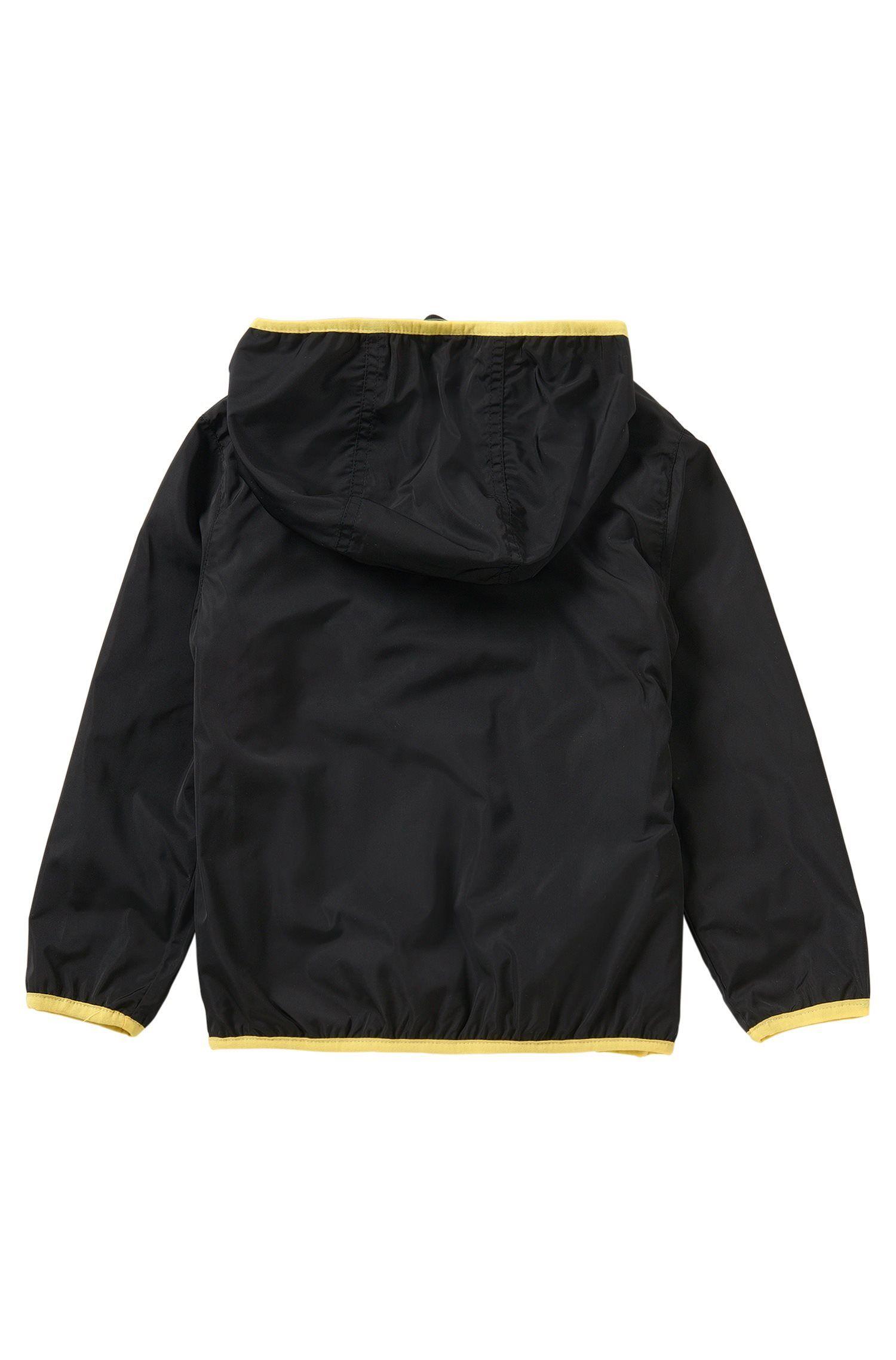 Kids-Jacke aus elastischem Baumwoll-Mix mit Kapuze: 'J26272'