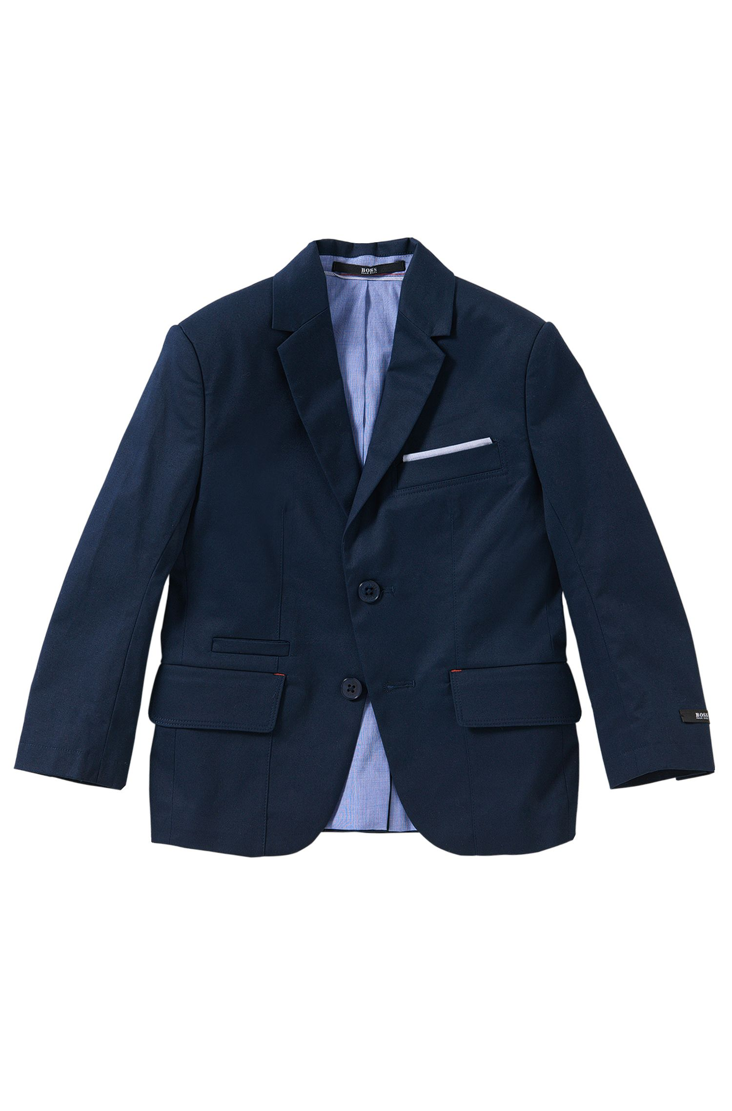Kids' jacket in stretch cotton with integral pocket square: 'J26275'