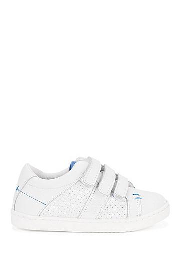 Kids-Sneakers aus Leder mit Klettverschluss: 'J29114', Weiß