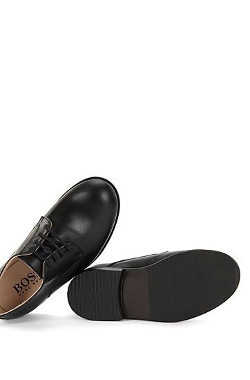 Kids-Schnürschuhe aus glattem Leder: 'J29115', Schwarz