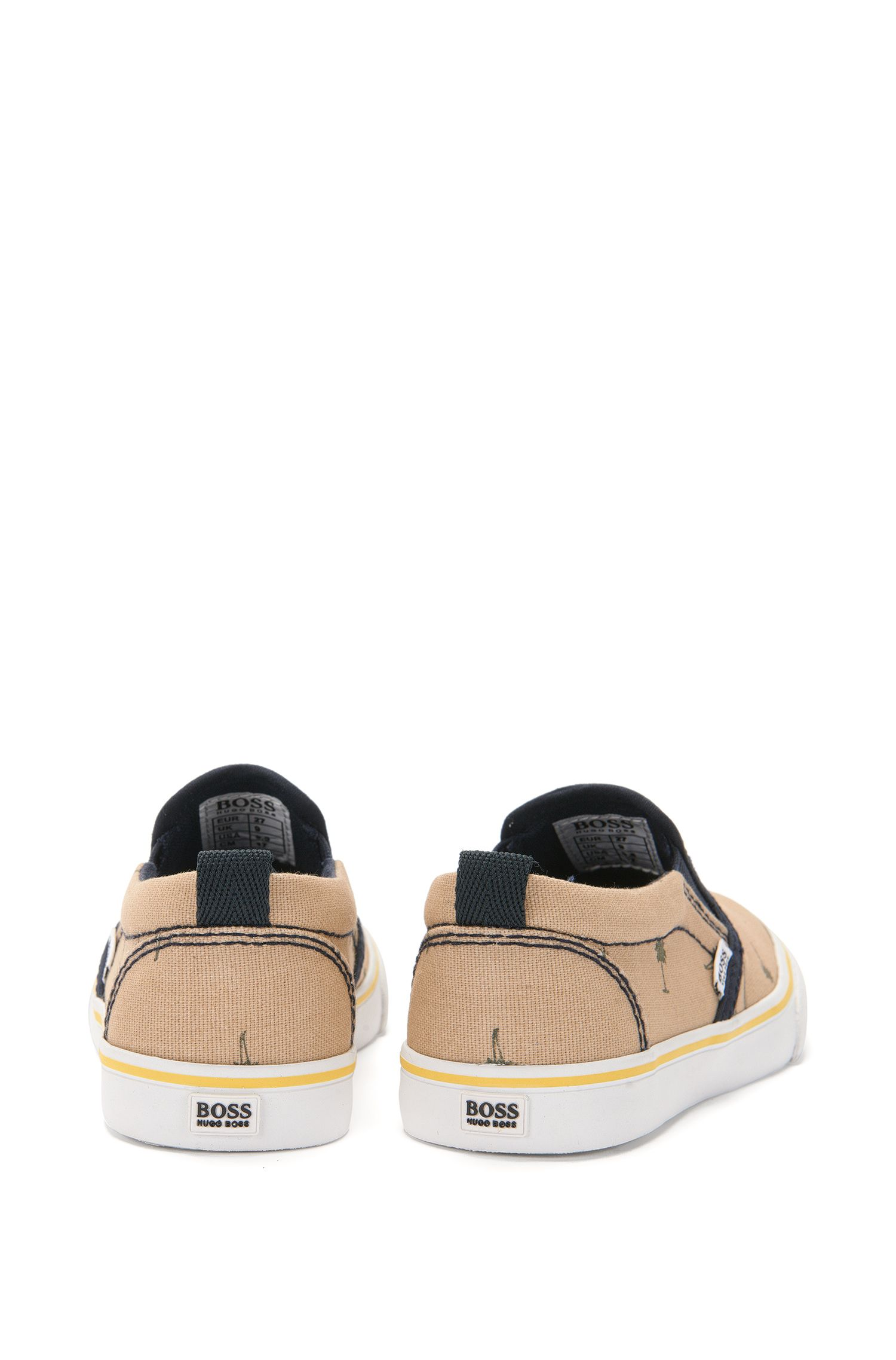 Kids-Sneakers aus Canvas mit Allover-Muster: 'J29117'