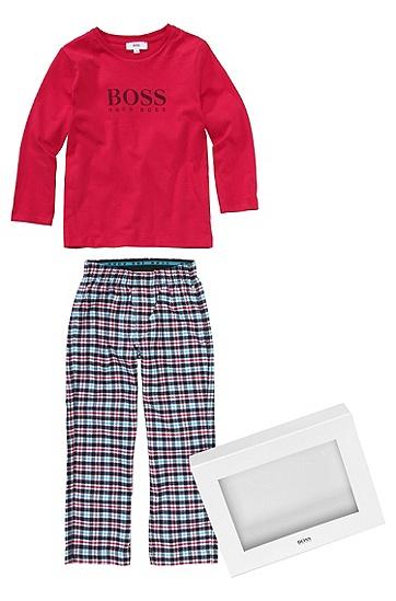 Kids-Pyjama-Set ´J2K032` aus Baumwolle, Rot