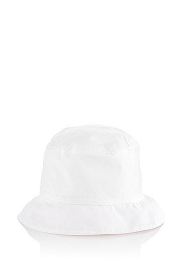 Kids-Wende-Fischerhut ´J91049` aus Baumwolle, Weiß