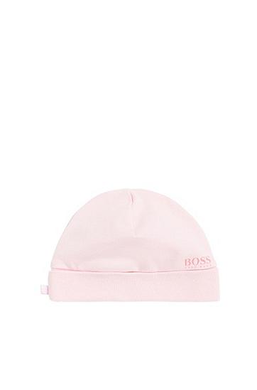 Unifarbene Baby-Mütze aus Baumwolle: 'J91067', Hellrosa