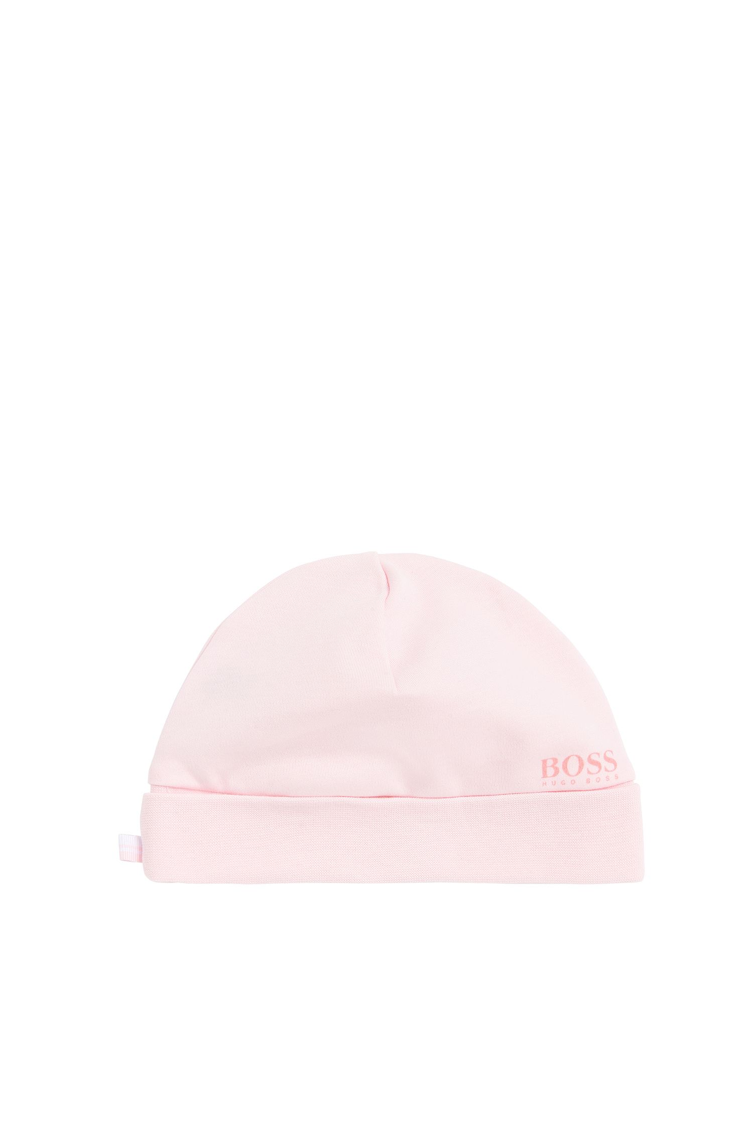 Plain-coloured newborn hat in cotton: 'J91067'