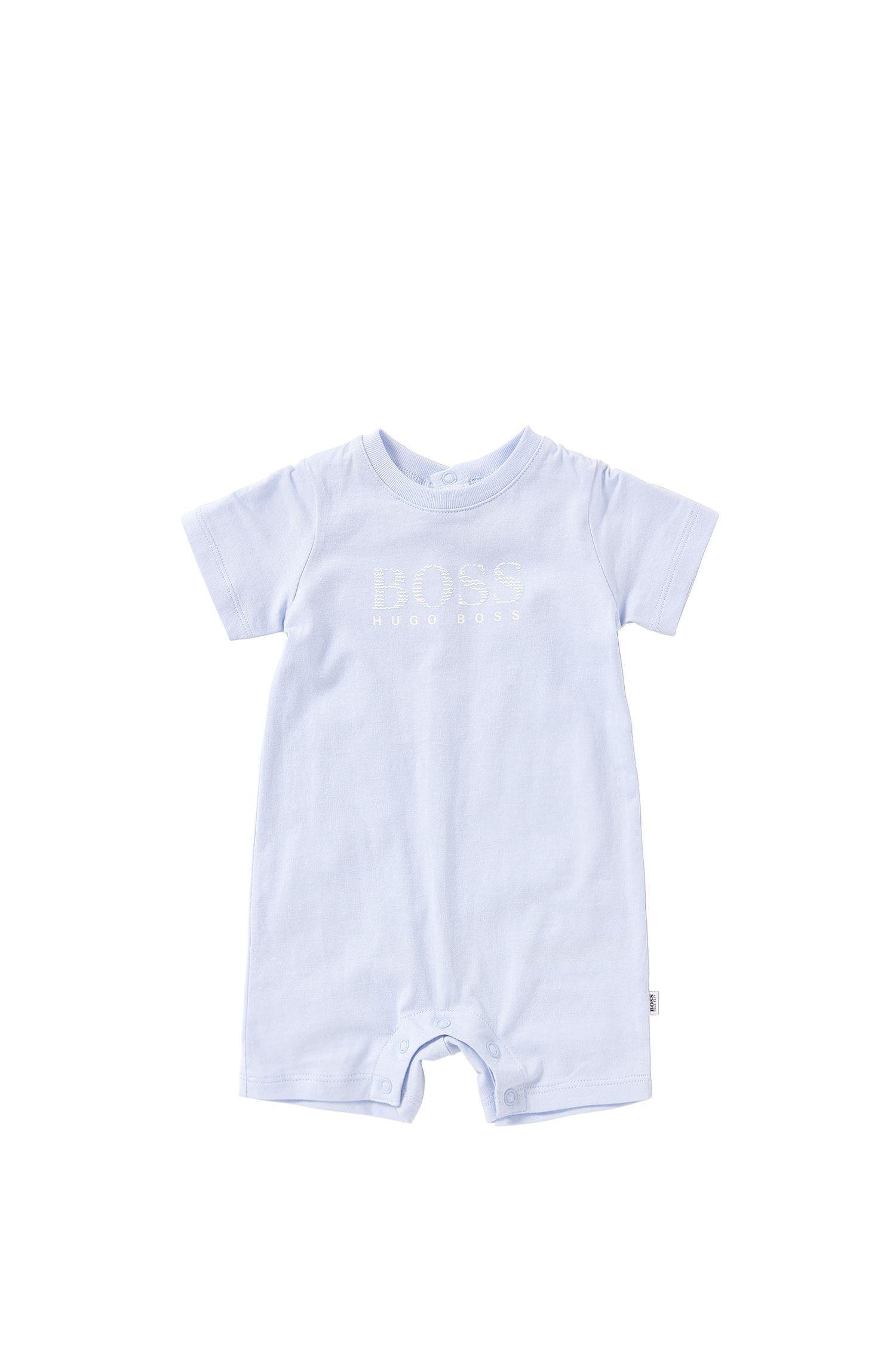 Short newborn's playsuit in cotton: 'J94157'