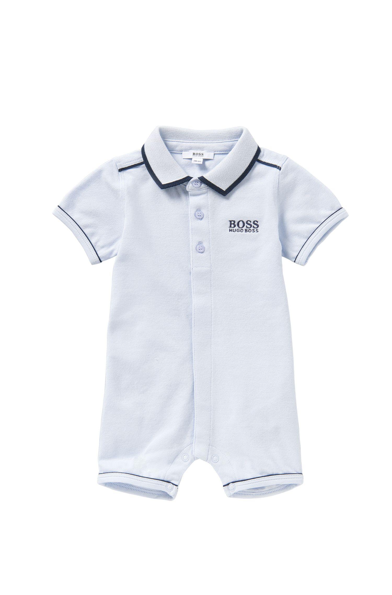 Baby-Spieler aus Stretch-Baumwolle mit Polo-Kragen: 'J94158'