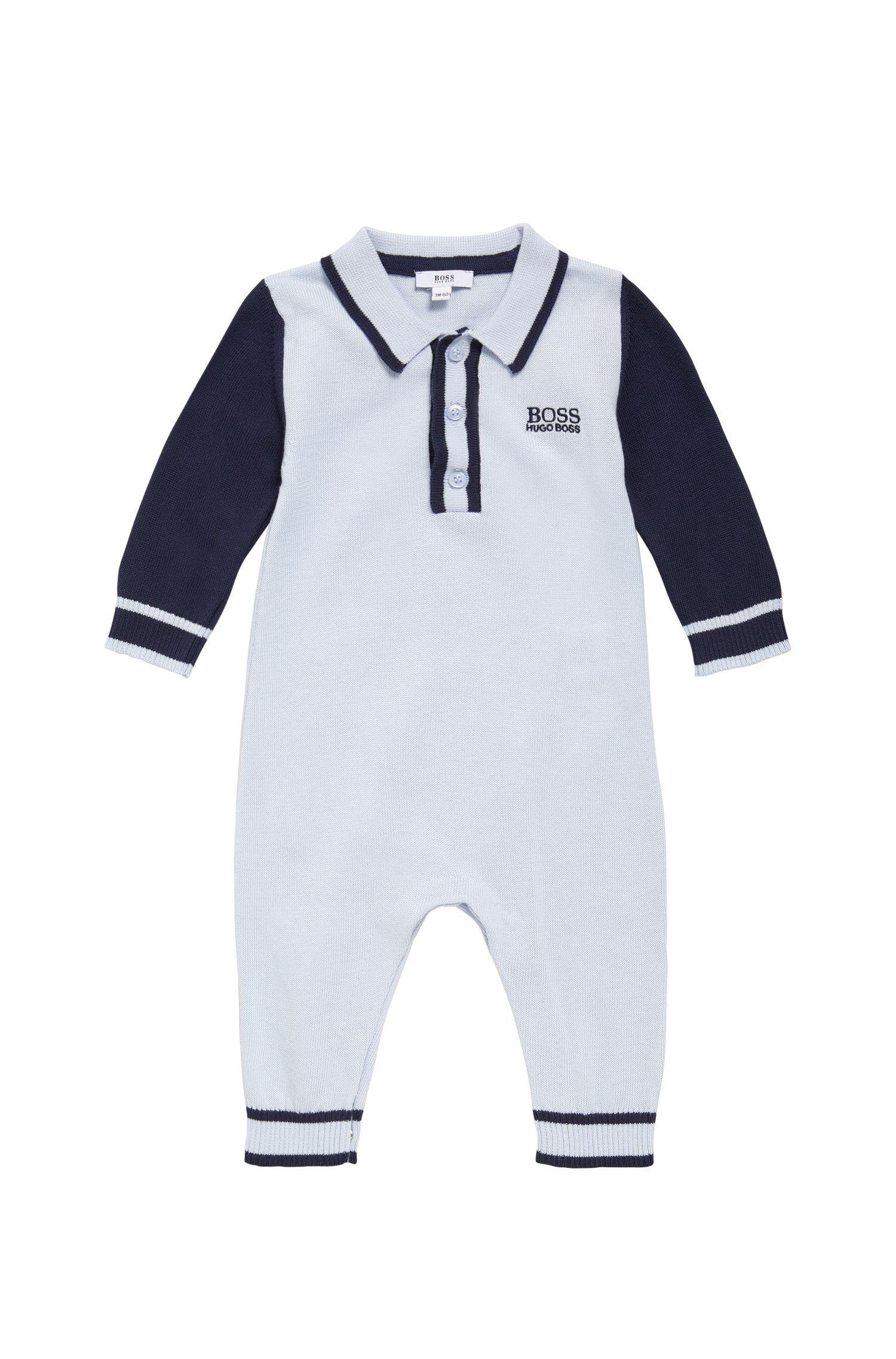 Combinaison pour bébé en coton à maille côtelée: «J94169»