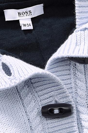 Kids-Strickjacke ´J95137` aus Baumwoll-Mix, Hellblau