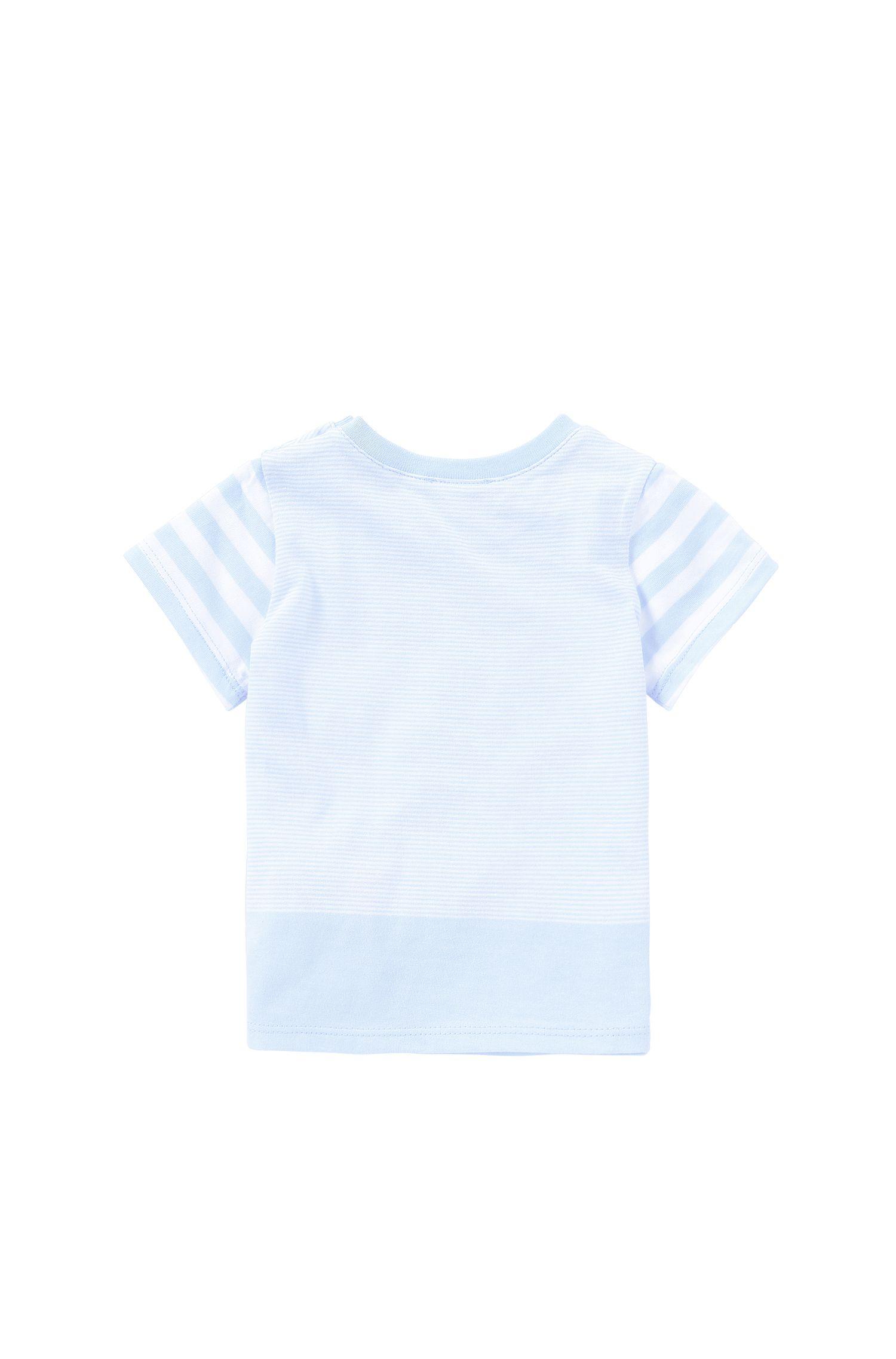 Gestreiftes Baby-T-Shirt aus elastischer Baumwolle: 'J95192'