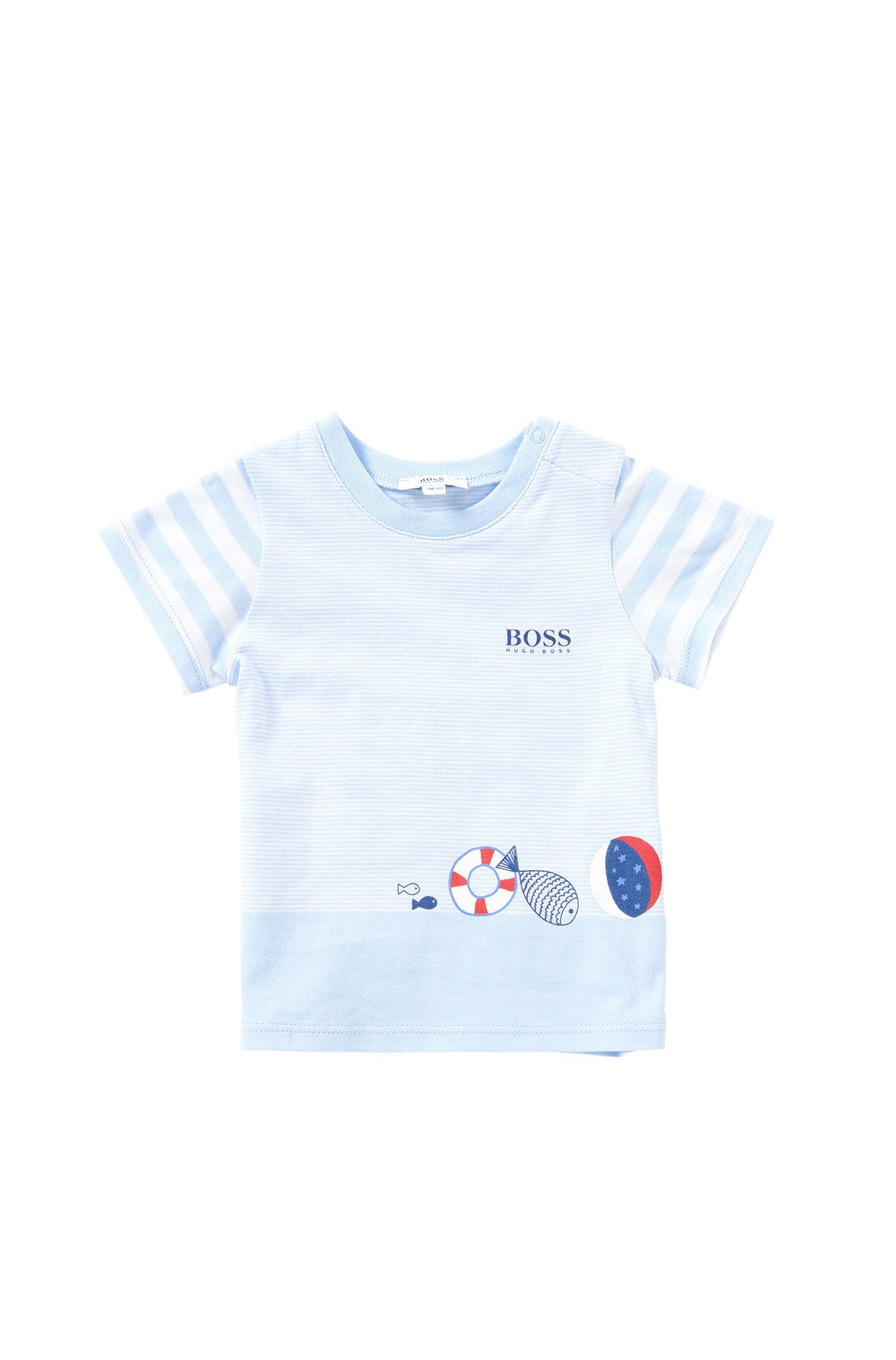 T-shirt pour bébé à rayures en coton extensible: «J95192»