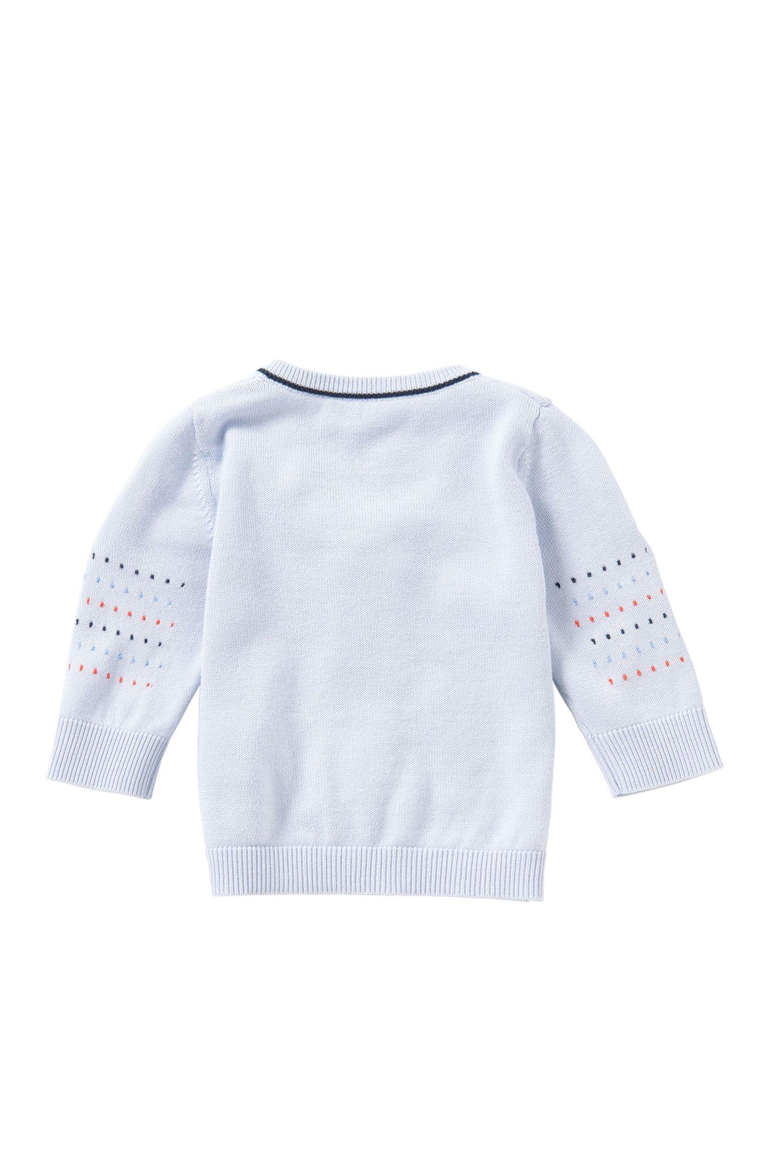 Veste en maille pour bébé avec zip, en mélange de coton et modal: «J95195»