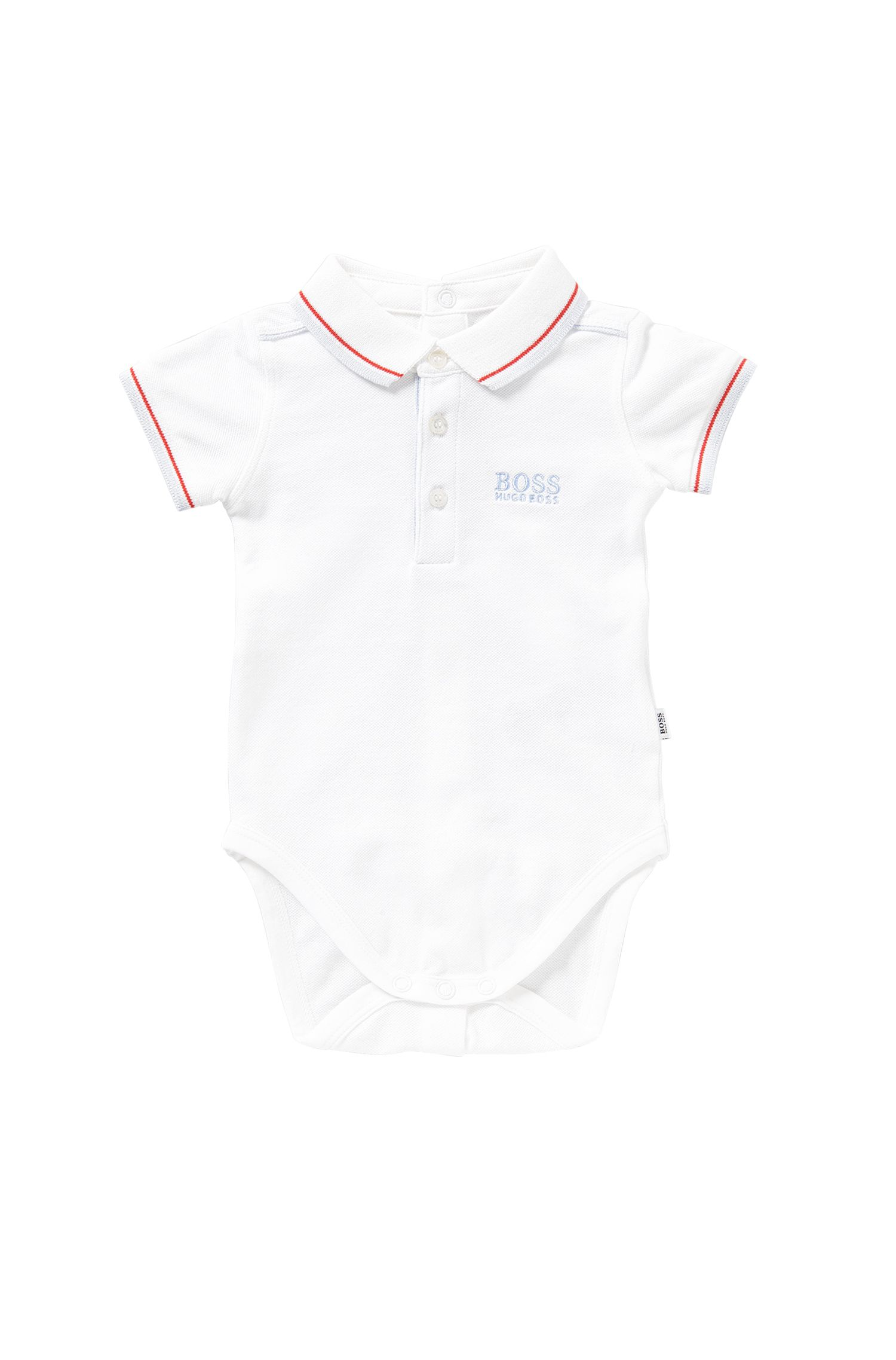 Baby-Body aus Stretch-Baumwolle: 'J97097'