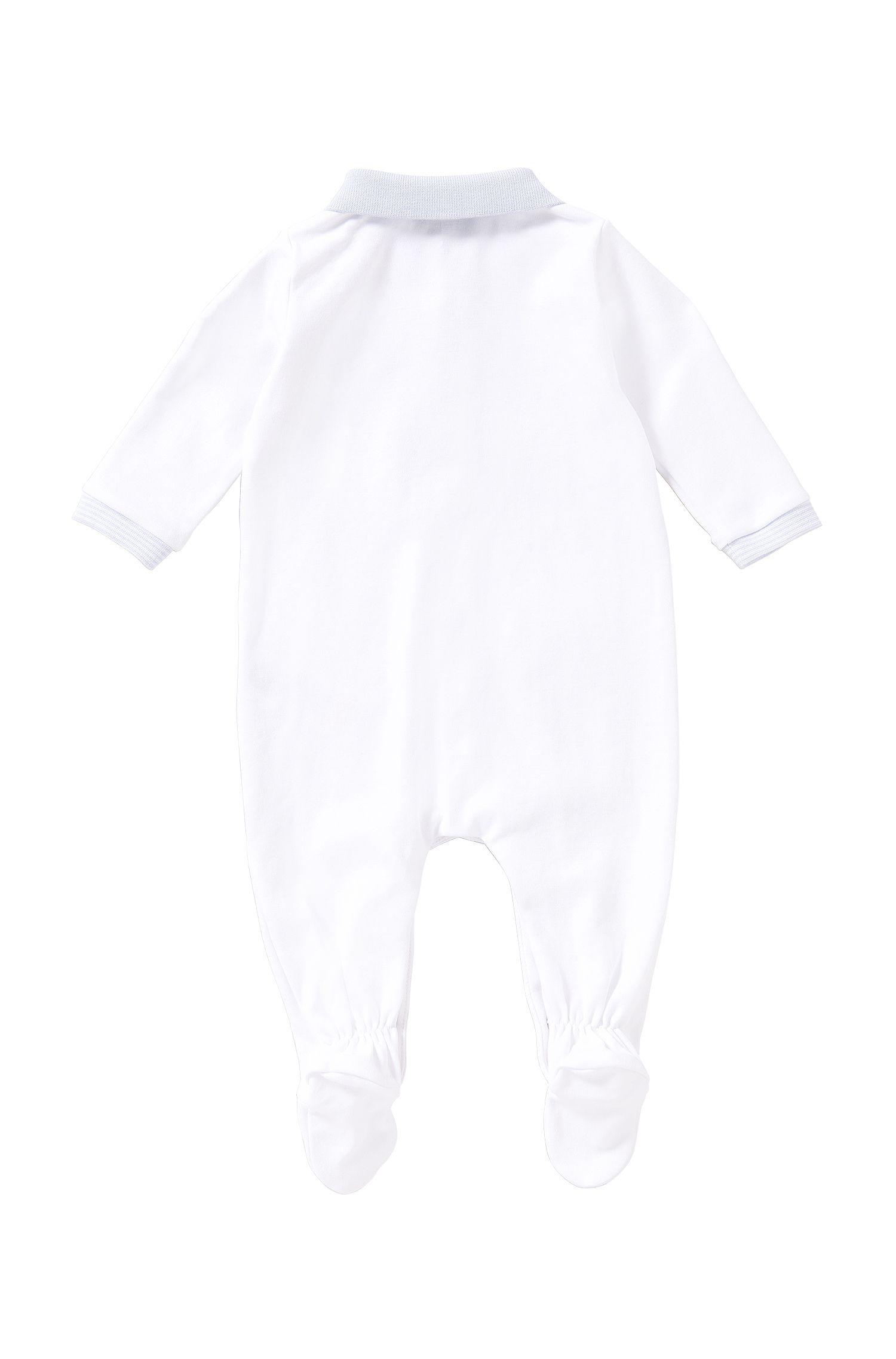 Grenouillère pour bébé en coton avec col polo: «J97098»