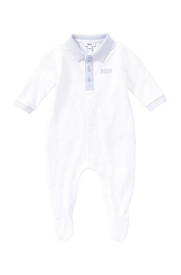 Baby-Strampler aus Baumwolle mit Polo-Kragen: 'J97098', Weiß
