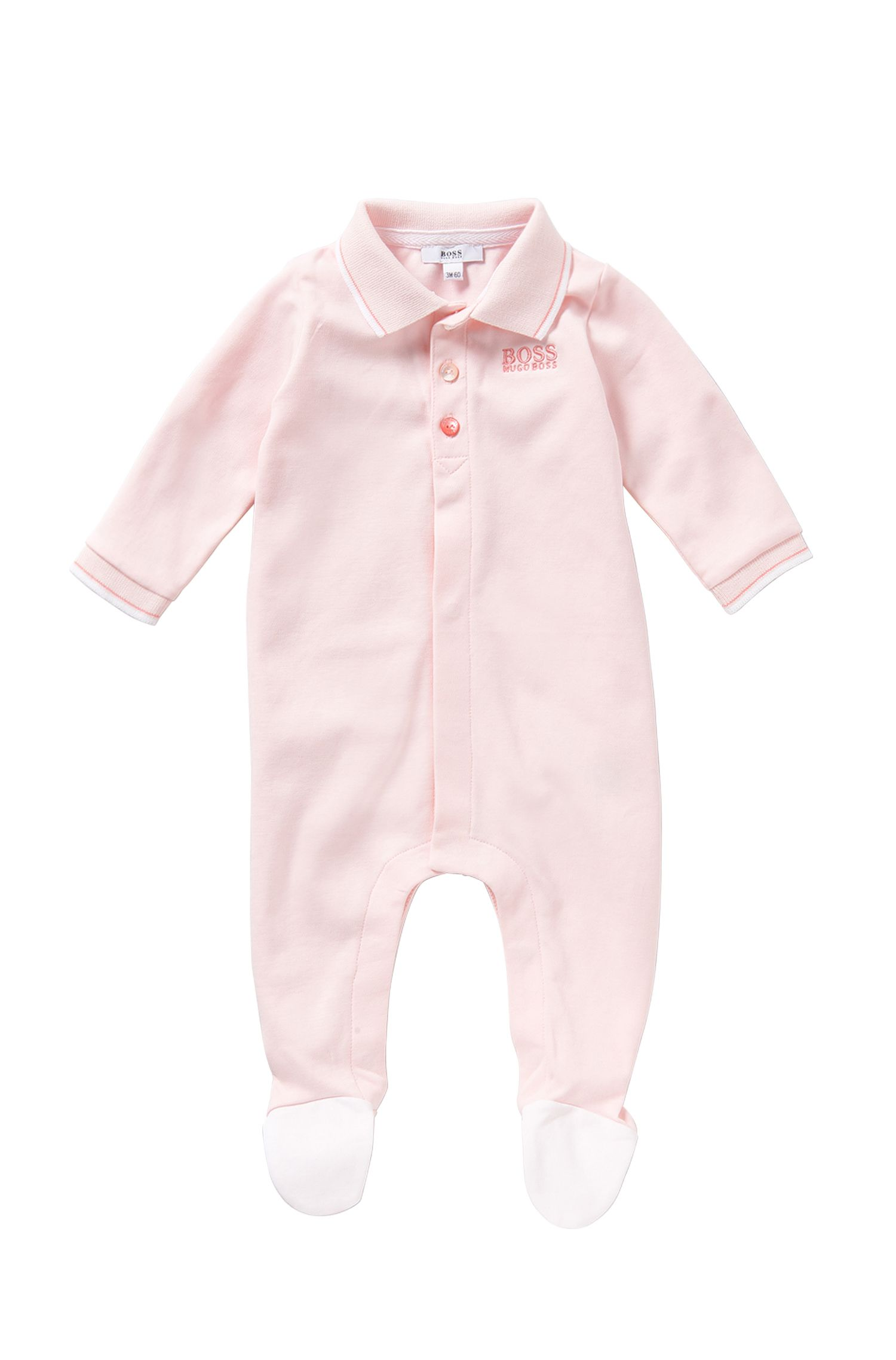 Newborns' bodysuit in cotton with a polo collar: 'J97101'