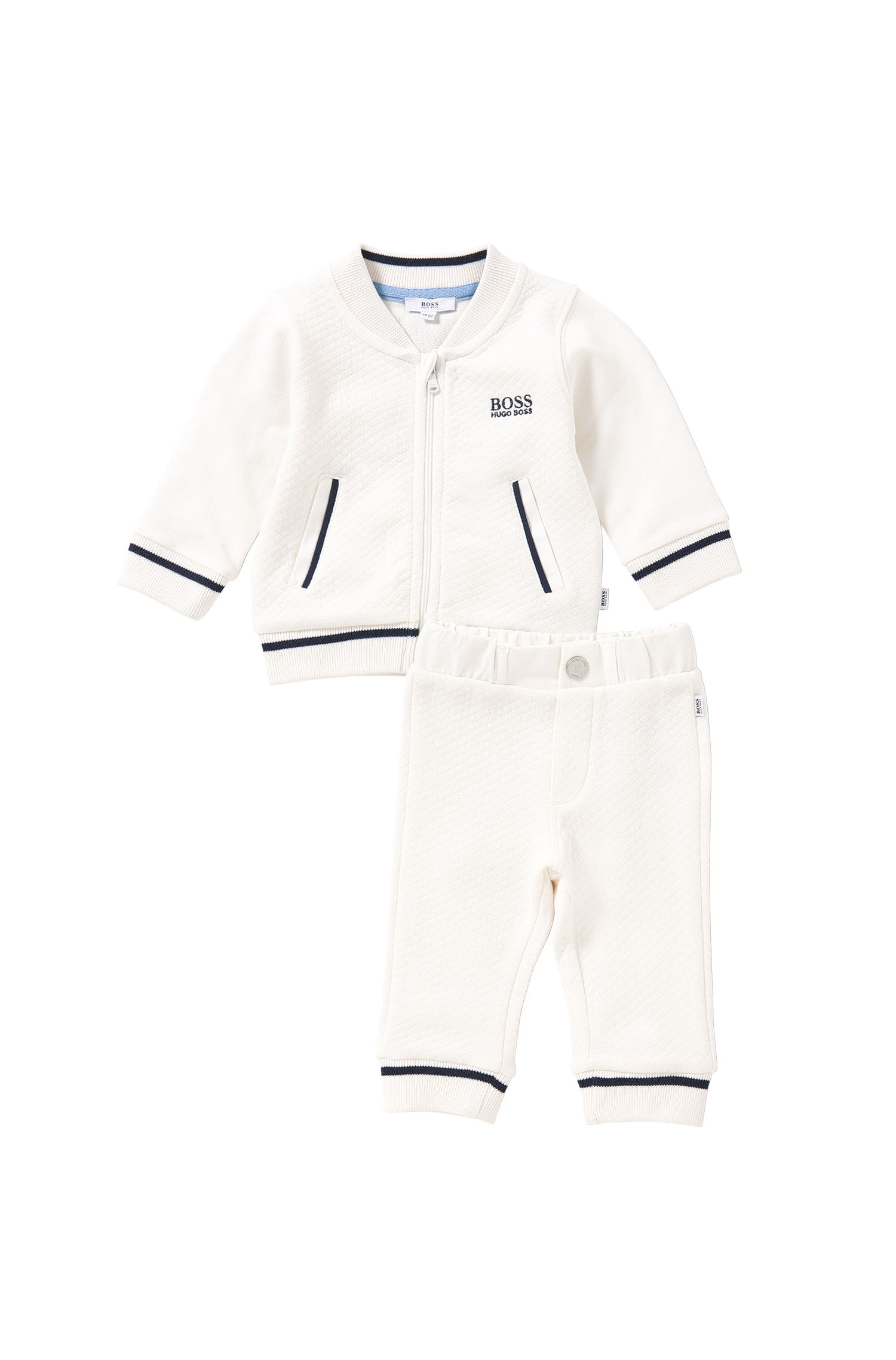 Newborn set consisting of a sweatshirt jacket and trousers: 'J98148'