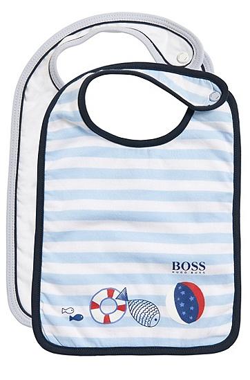 Baby-Lätzchen im Zweierpack mit Aufbewahrungstasche: 'J98150', Weiß