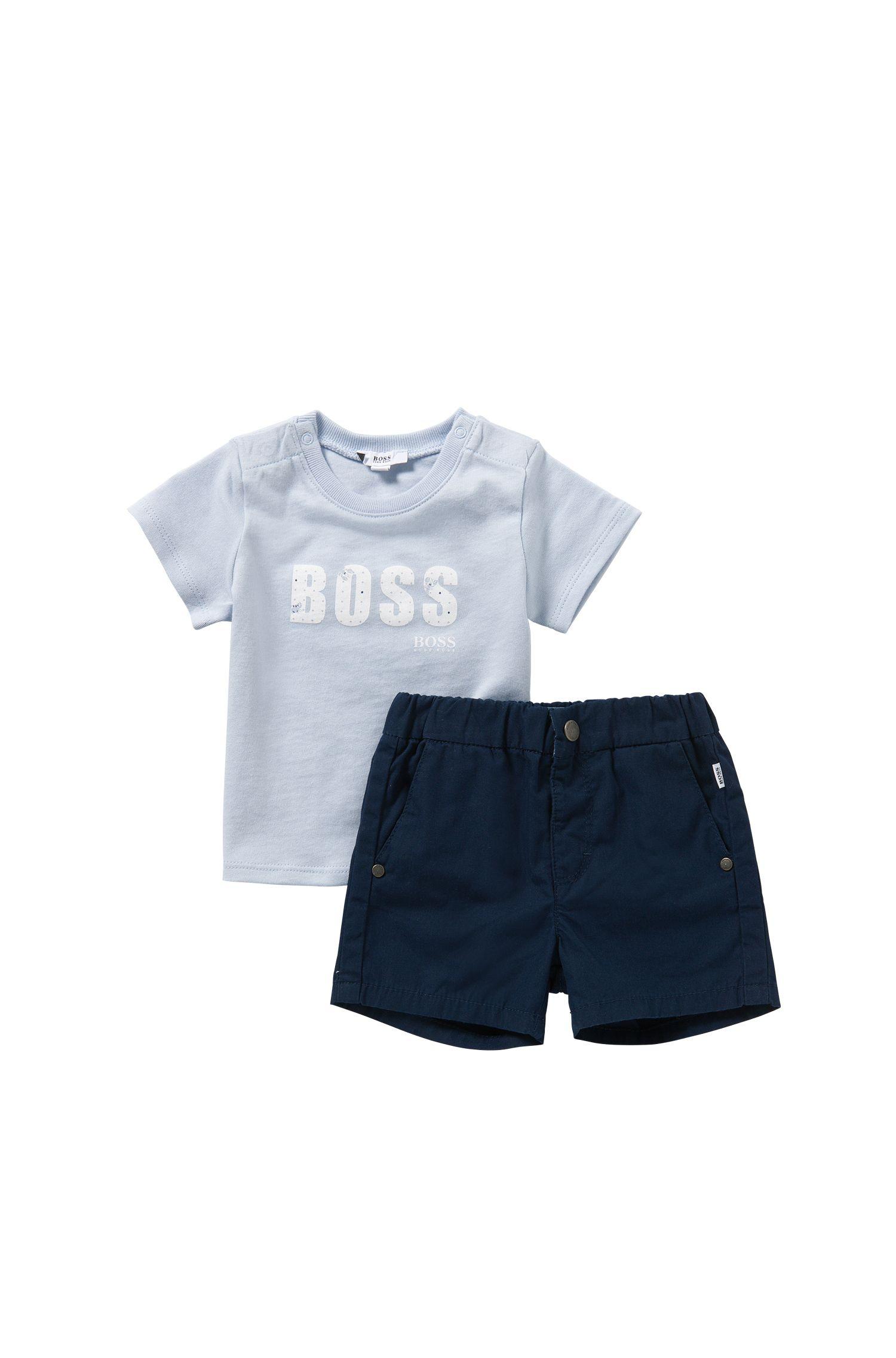 Babyset bestaande uit een T-shirt en een short van katoen: 'J98155'