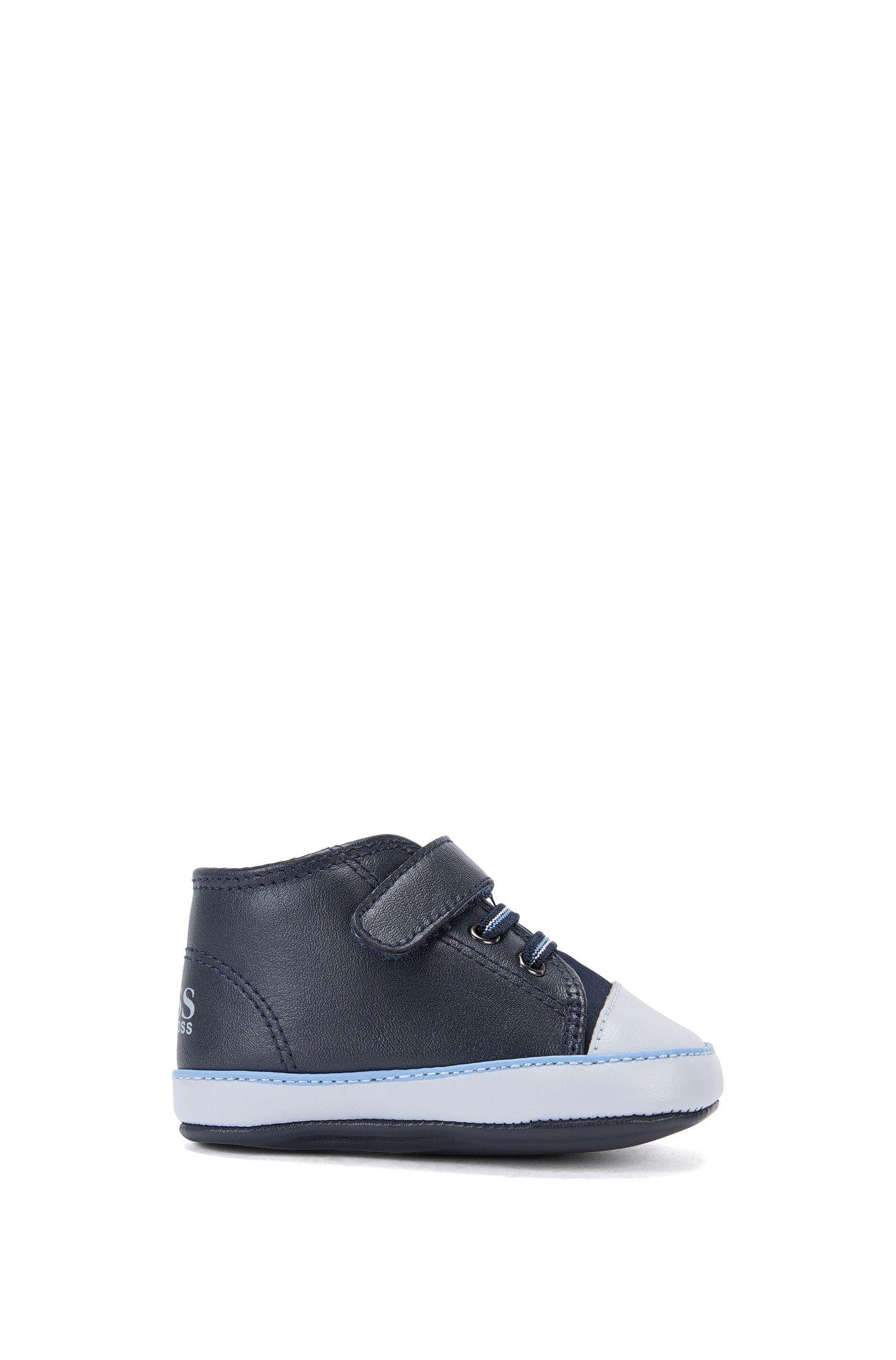 Chaussures de bébé en cuir avec bande auto-agrippante: «J99047»