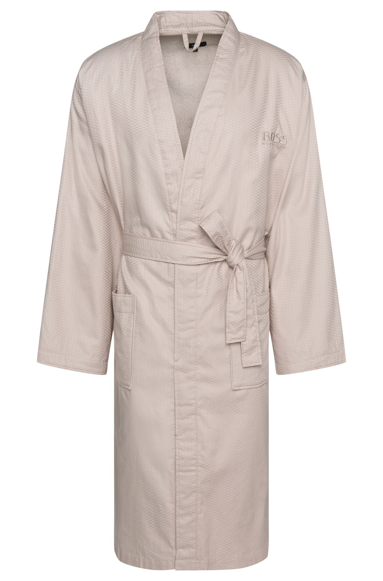 Finely patterned dressing gown in cotton: 'Kim-Lofty-260-M'