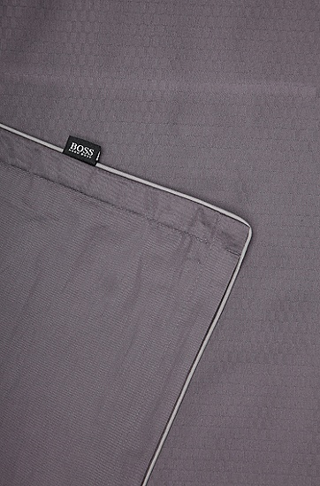 Kopfkissenbezug ´LOFT` aus Baumwollsatin, Dunkelgrau