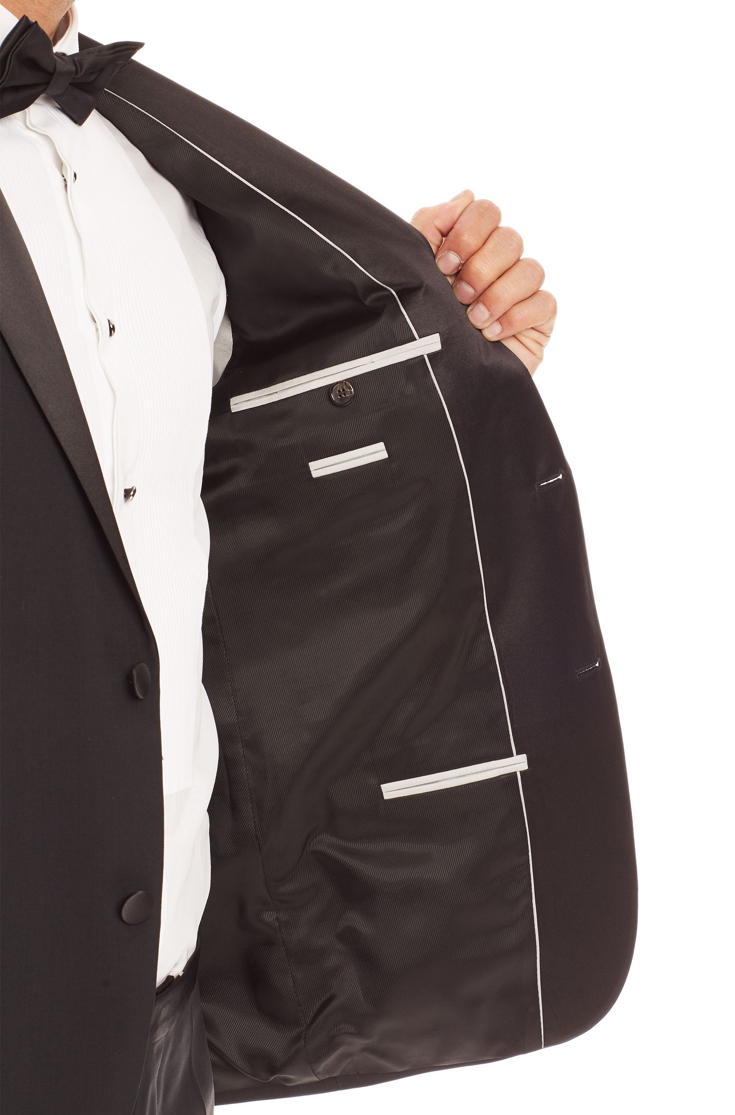 'Stars/Glamour ' | Regular Fit, Virgin Wool Notched Lapel Tuxedo