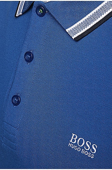 'Paddy' | Modern Fit, Cotton Polo Shirt , Blue