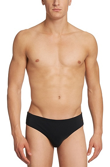 'Crab BM' | Stretch Swim Briefs, Black