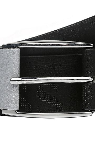 'Millow' | Italian Leather Belt, Black