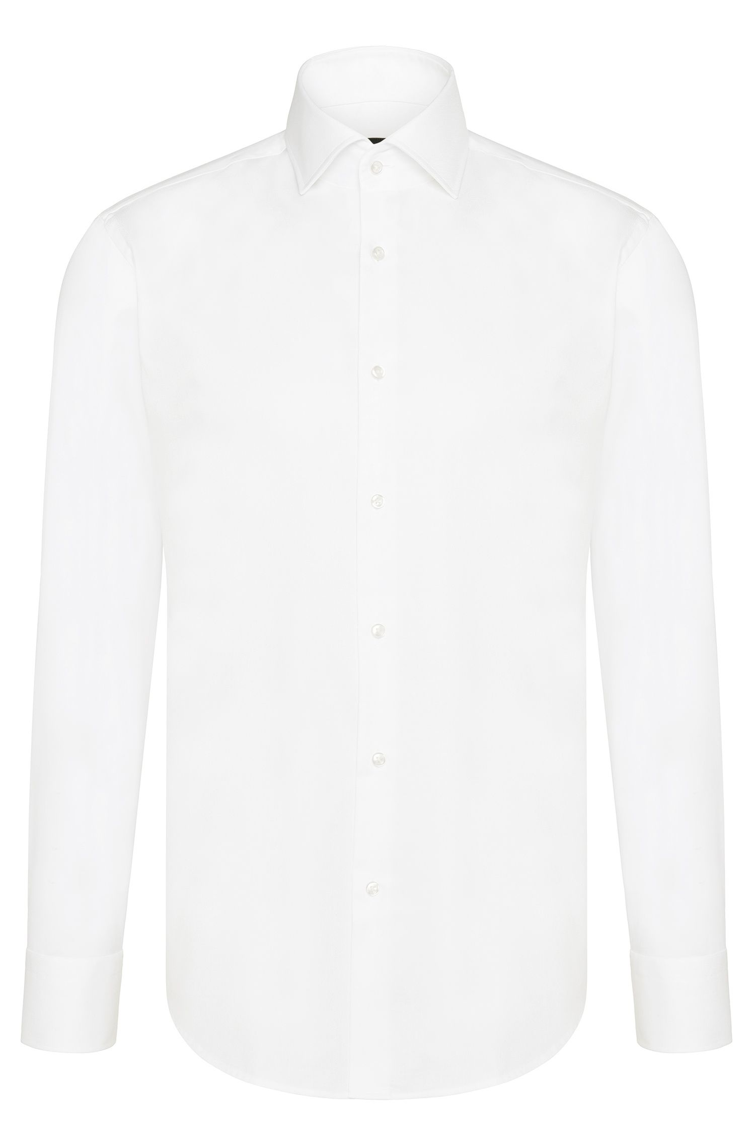 'Gerald' | Regular Fit, Spread Collar Cotton Dress Shirt