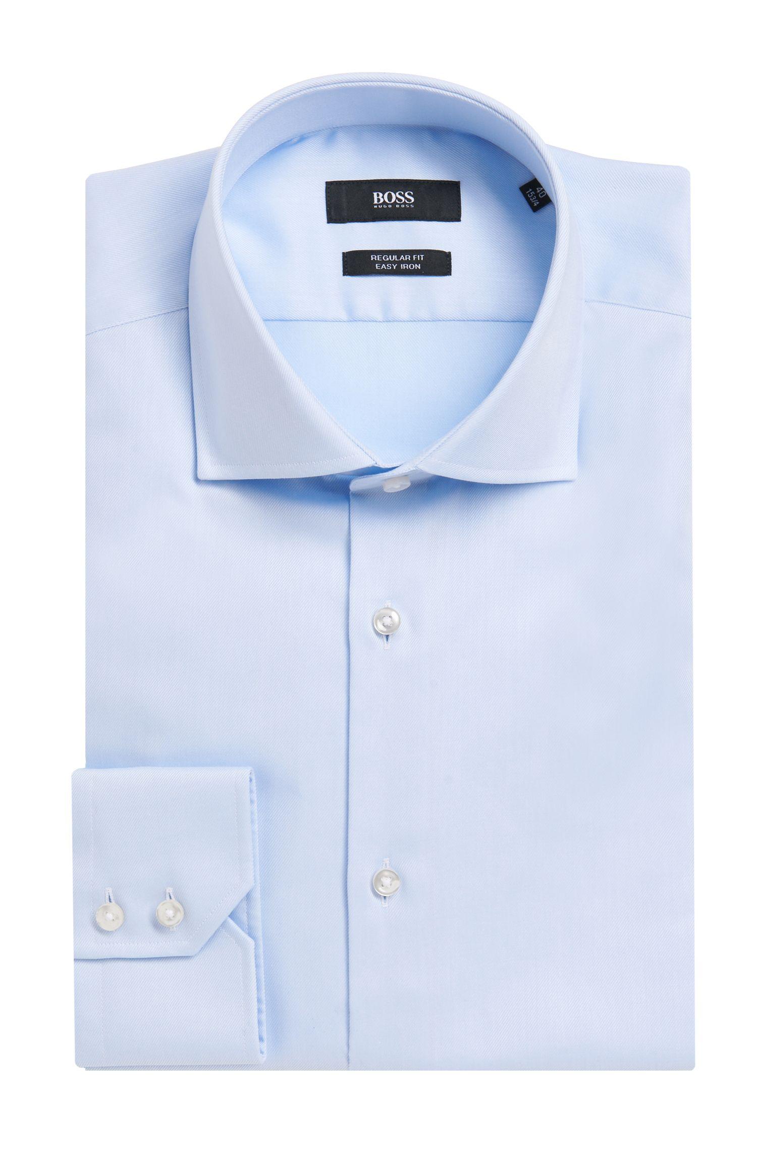 'Gerald' | Regular Fit, Spread Collar Cotton Dress Shirt