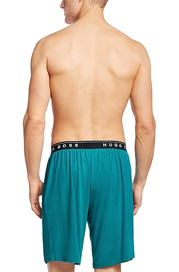 'Short Pant BM' | Stretch Modal Lounge Shorts, Light Blue