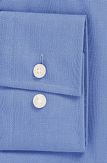 'Jaron' | Slim Fit, Spread Collar Easy Iron Cotton Dress Shirt, Blue