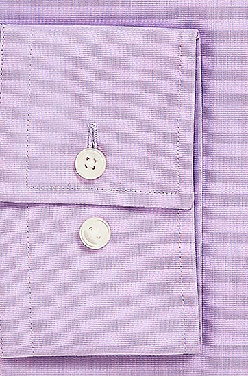 'Jaron' | Slim Fit, Spread Collar Easy Iron Cotton Dress Shirt, Light Purple
