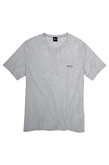 'T-Shirt' | Stretch Modal V-Neck T-Shirt, Grey
