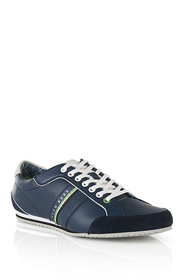 'Victoire LA' | Leather Sneakers, Dark Blue