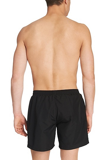 'Starfish BM' | Quick Dry Swim Trunks, Black