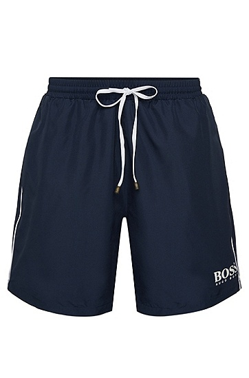 'Starfish BM' | Quick Dry Swim Trunks, Dark Blue