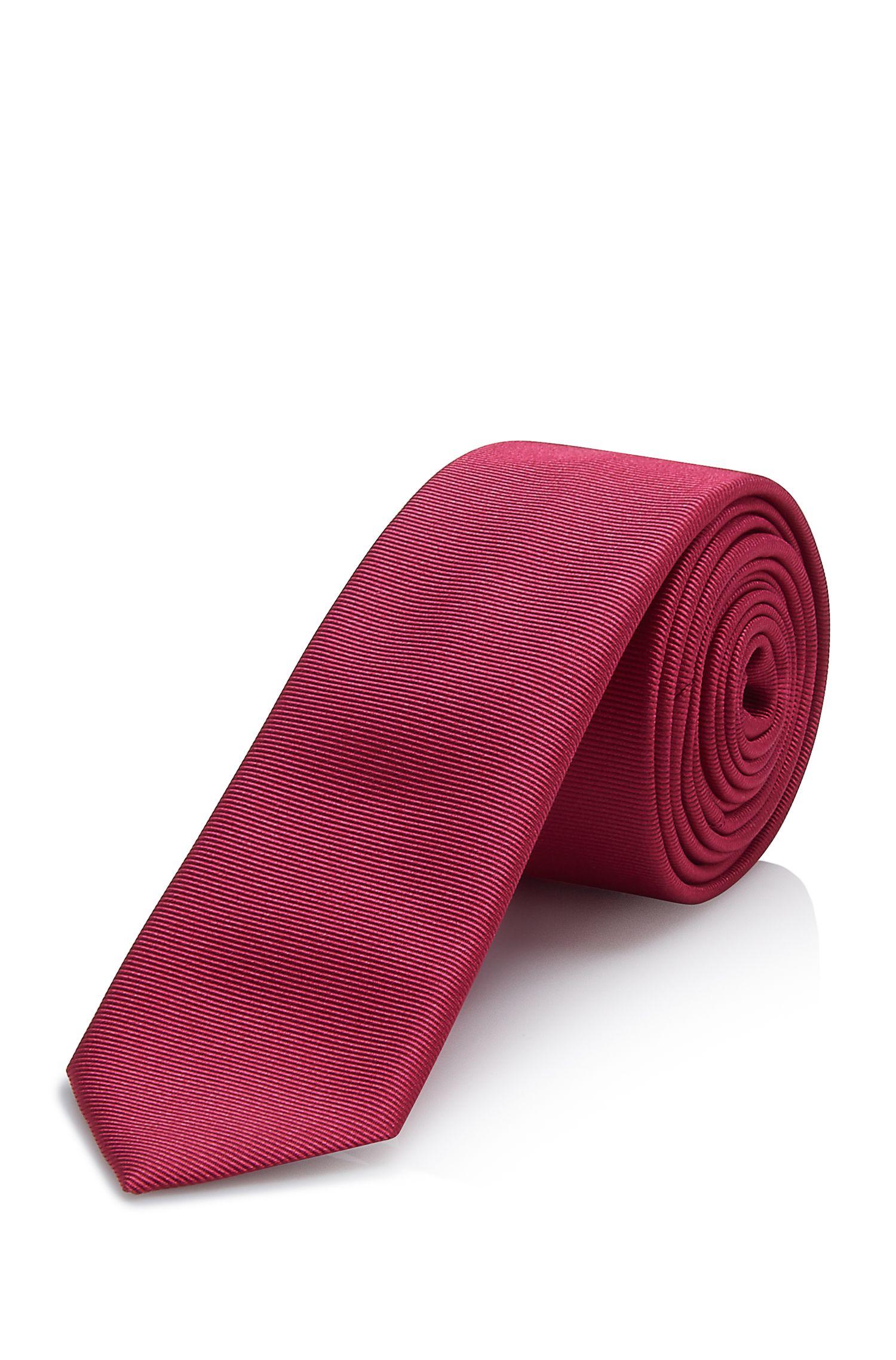 'Tie 4.5 cm' | Skinny, Silk Ribbed Tie