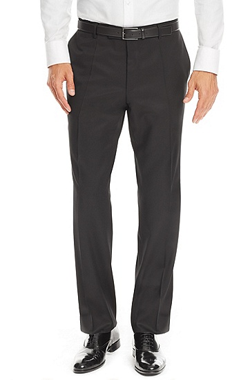 'Pasolini/Movie' | Comfort Fit, Super 100 Virgin Wool Suit, Black